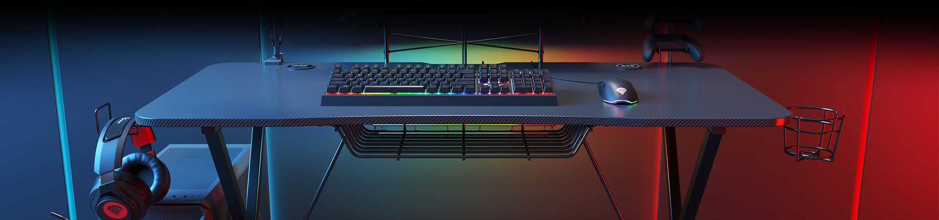 HOLM 300 RGB – PROFESSIONAL GAMING DESK