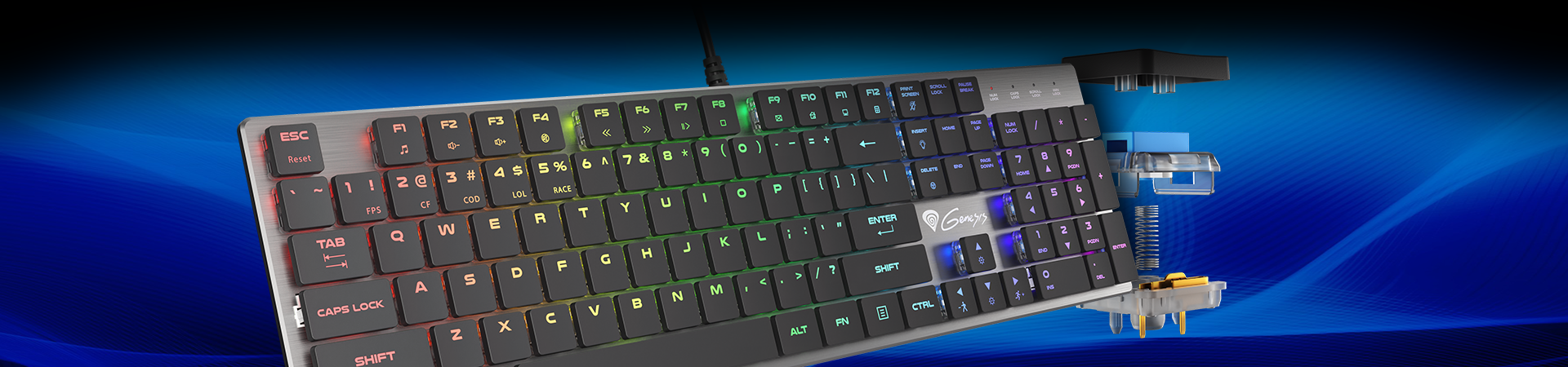 THE THOR 420 is a low-profile mechanical keyboard